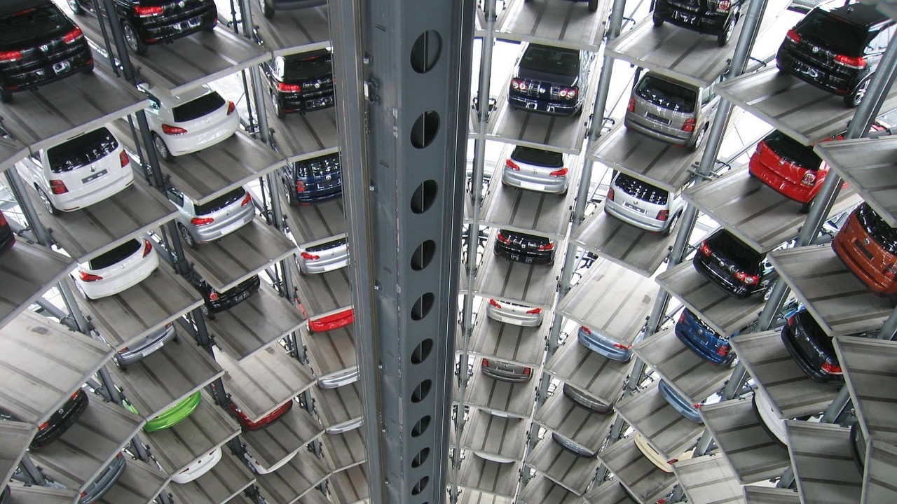 vertical car garage
